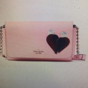 New! kate spade, love birds small flap crossbody
